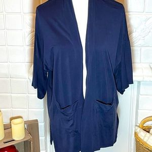 Eileen Fisher Blue Cardigan with Pockets